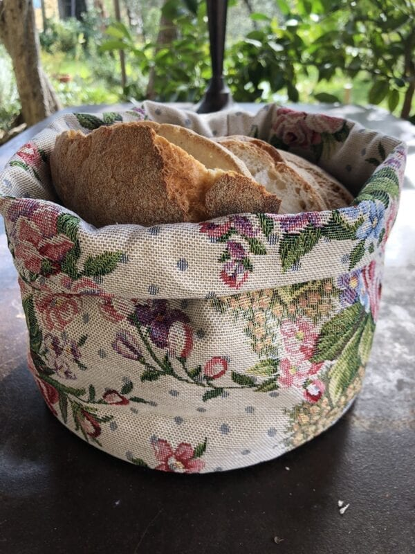Porta pane in gobelin – Rosa