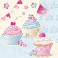 Tovaglioli di carta 3 veli – Birthday Cup cakes