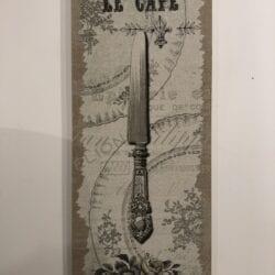 Quadro su tela in legno – Le Cafe
