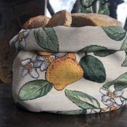 Porta pane in gobelin – Limone
