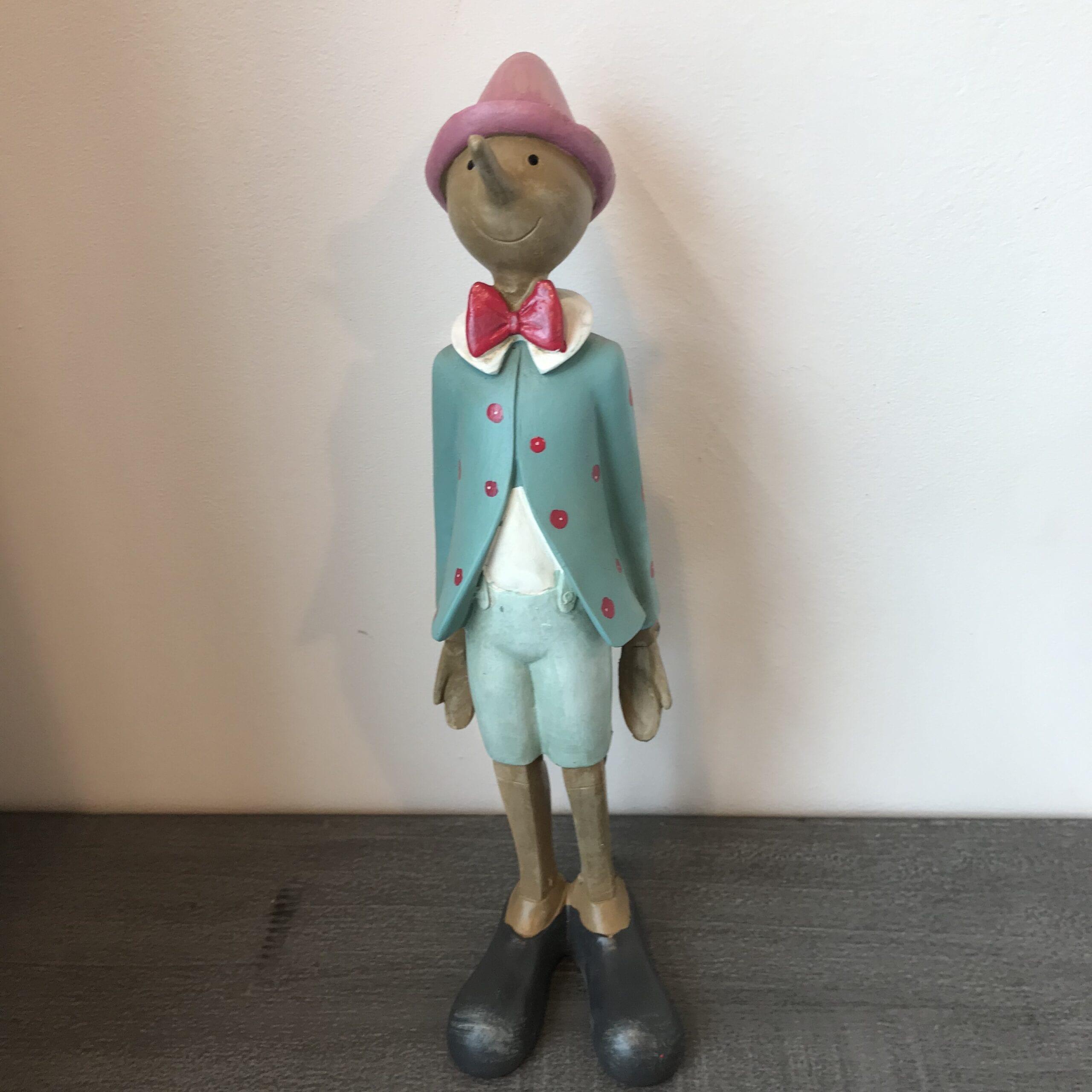 Pinocchio Turchese Marionetta in piedi