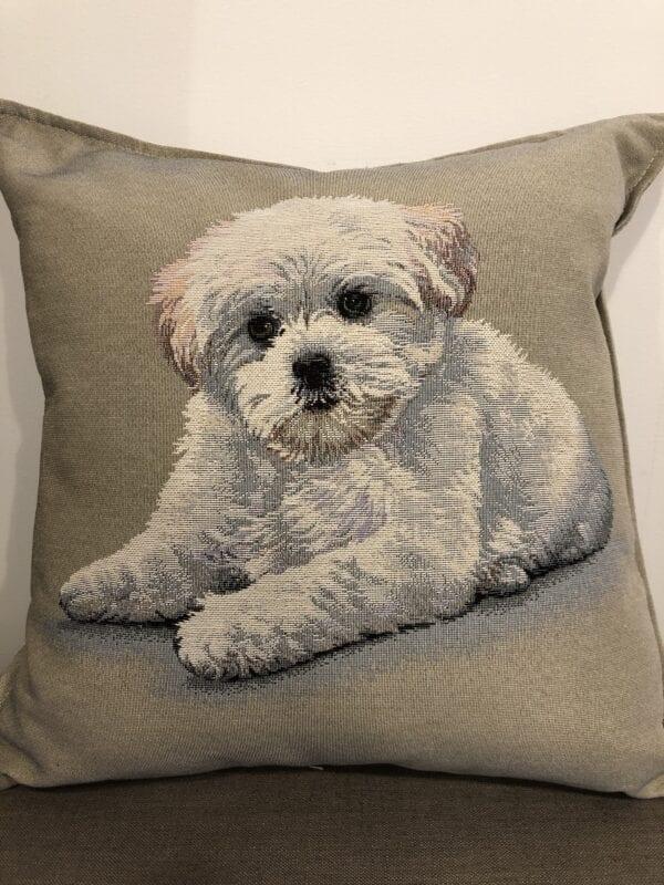 Cuscino – Cagnolino bianco