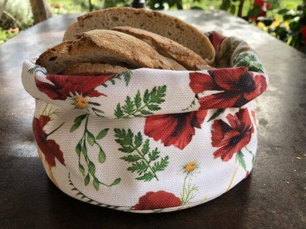 Porta pane in cotone – Papavero