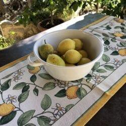 Runner Gobelin – Bianco con Limoni