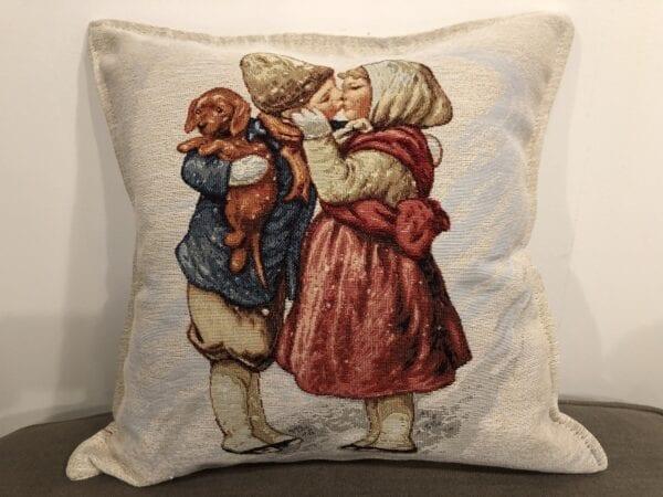 Cuscino – Bambini con cane