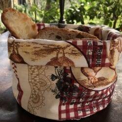 Porta pane in cotone – Gallina