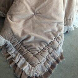 Trapuntino fondoletto con gale – Rosa antico