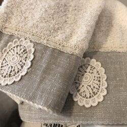 Coppia asciugamani – Crema