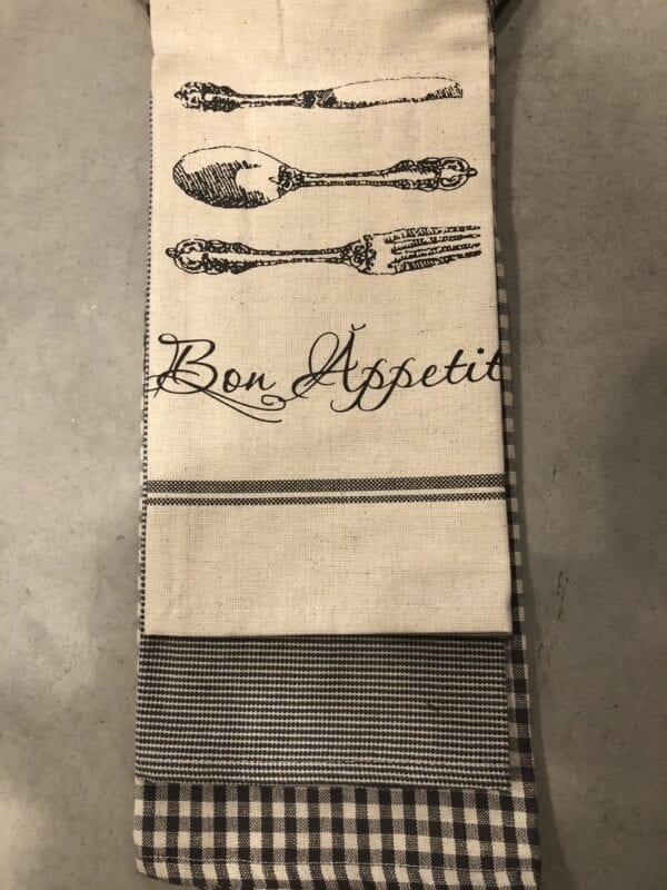 Canovaccio in cotone – Bon Appetit