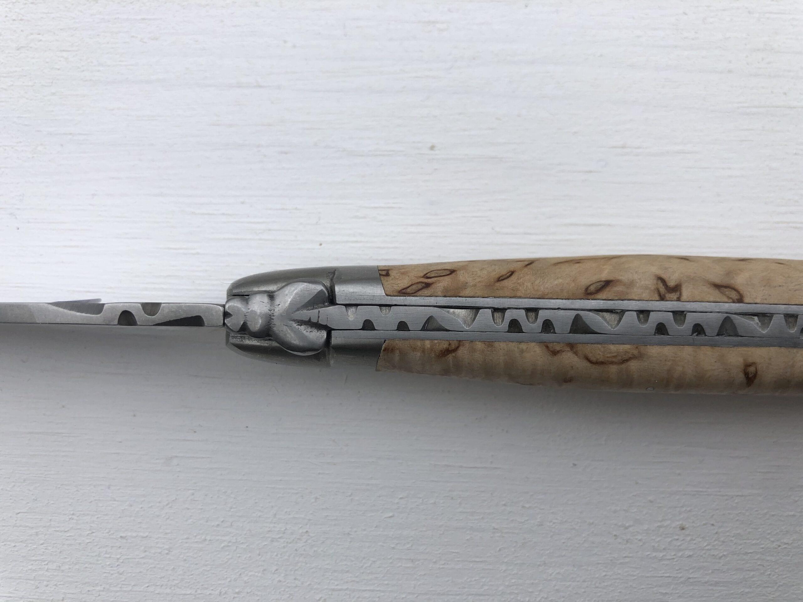 Coltello vero Laguiole – Manico in legno di Betulla