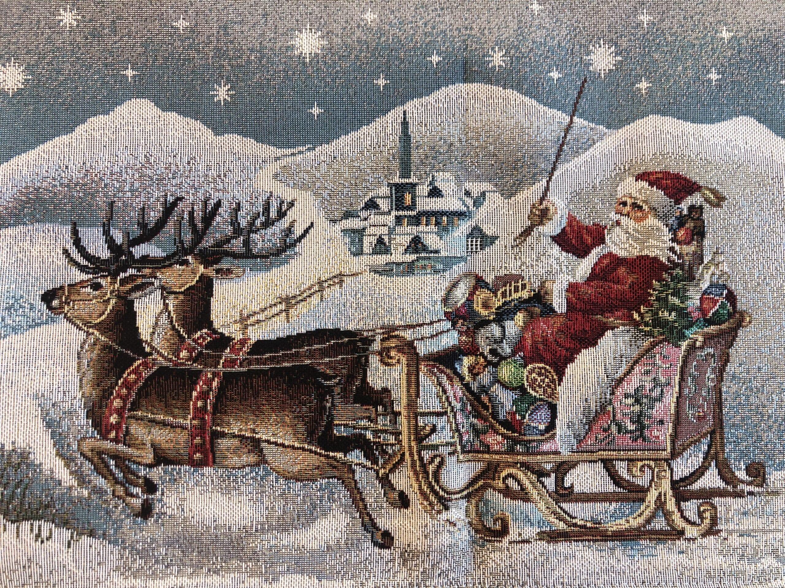 Tovaglia in gobelin 100×100 – Paesaggio natalizio