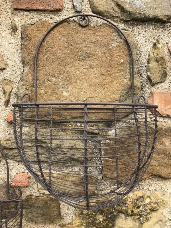 Vaso in ferro da muro – Medio