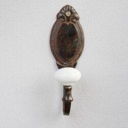 Appendiabiti con 1 gancio in porcellana