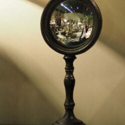 """Specchio """"Occhio di Strega"""" con supporto"""