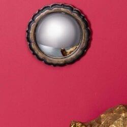 """Specchio """"Occhio di Strega"""" con bordo fiorito"""
