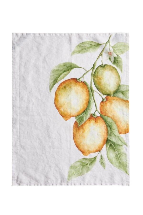 Canovaccio in 100% lino – Limoni