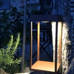 Piccola lanterna al Led – Color Ruggine