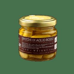 Spicchi di Aglio rosso in Olio Evo –  90g