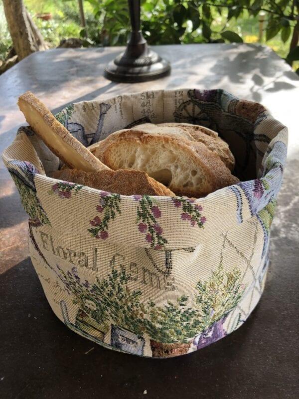 Porta pane in gobelin – Lavanda