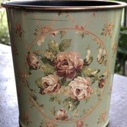 Vaso primavera – Blu/Verde con piccole rose