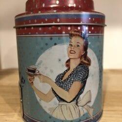 Scatoletta porta thé – Blu con Signora