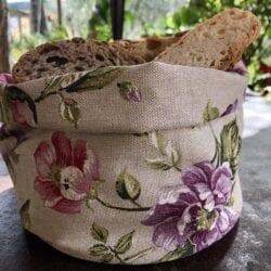 Porta pane in cotone – Fiori