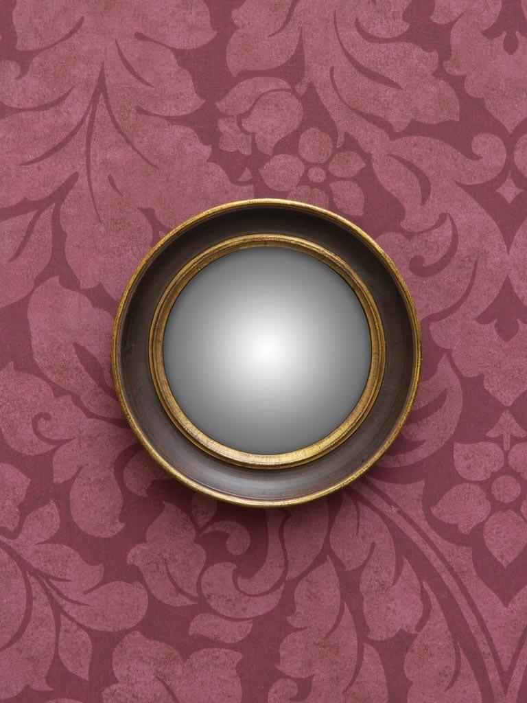 """Specchio """"Occhio di Strega"""" con doppio bordo oro"""