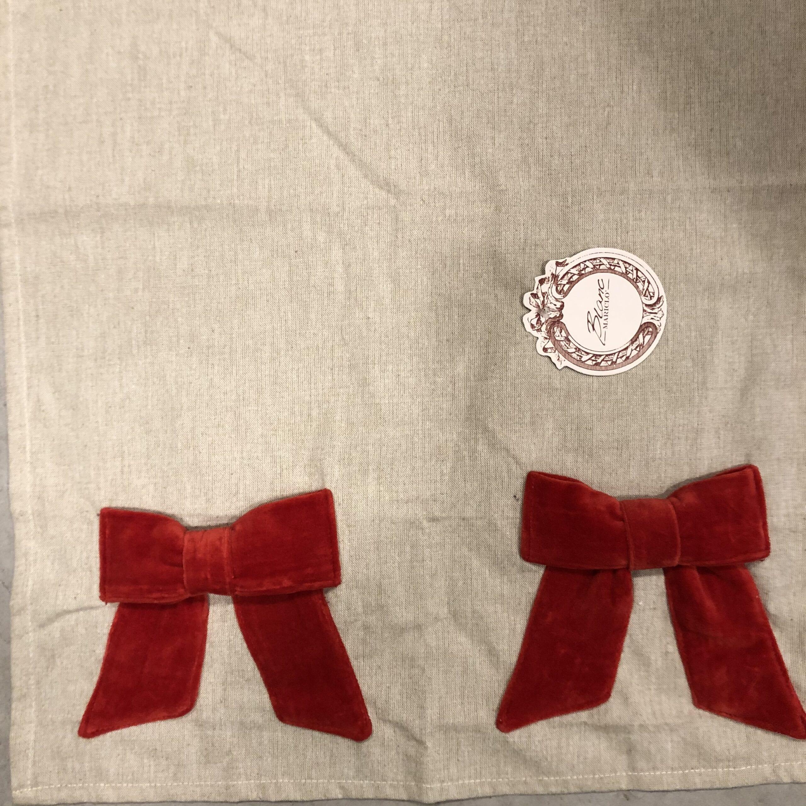 Conovaccio con fiocco in velluto rosso
