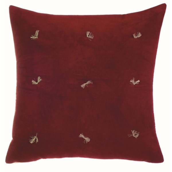 Cuscino in velluto quadrato – Rosso