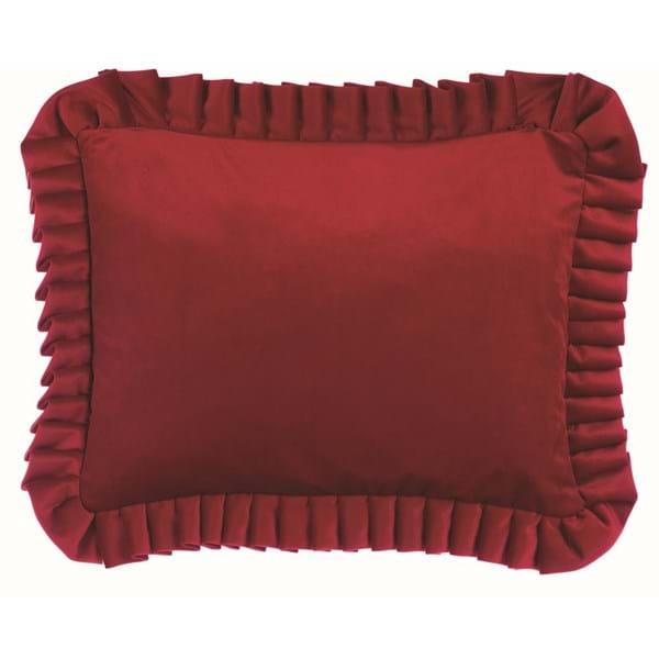 Cuscino con gala in velluto – Rosso