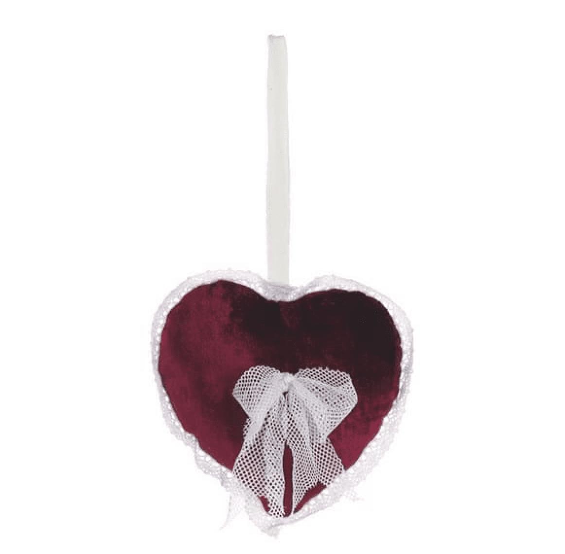 Decorazione a forma di cuore – Rosso