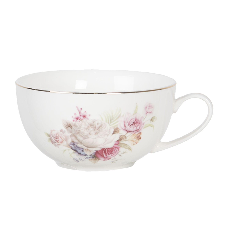 Set per té porcellana – Roselline e filo d'oro