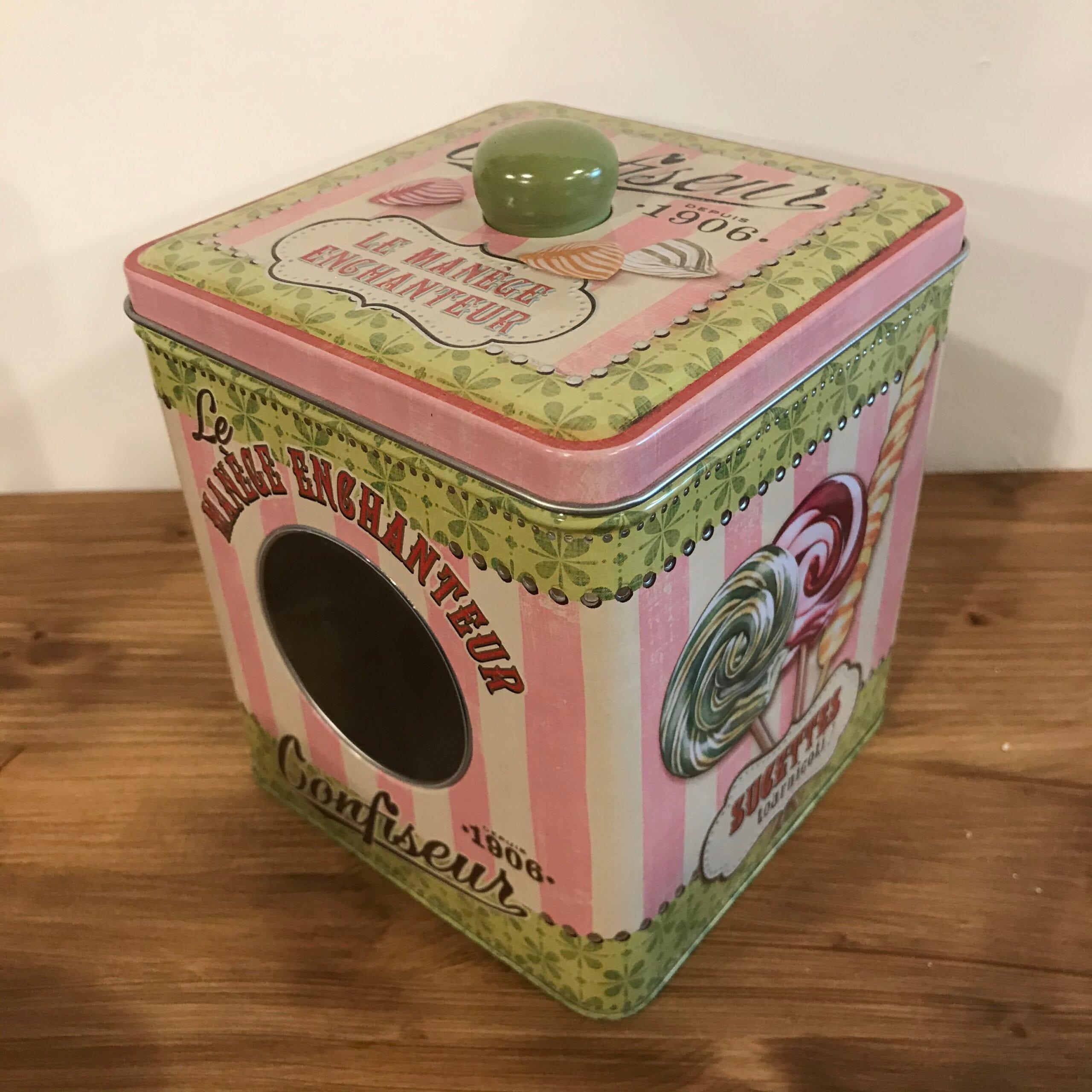 Scatola porta oggetti rosa e verde – Bonbons