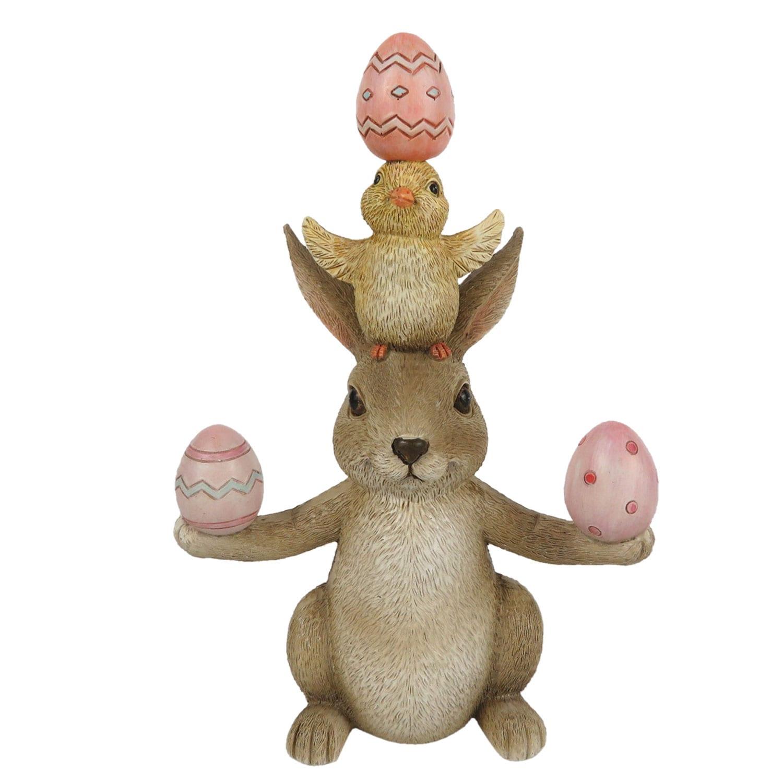 Decorazione a forma di coniglietto con uova