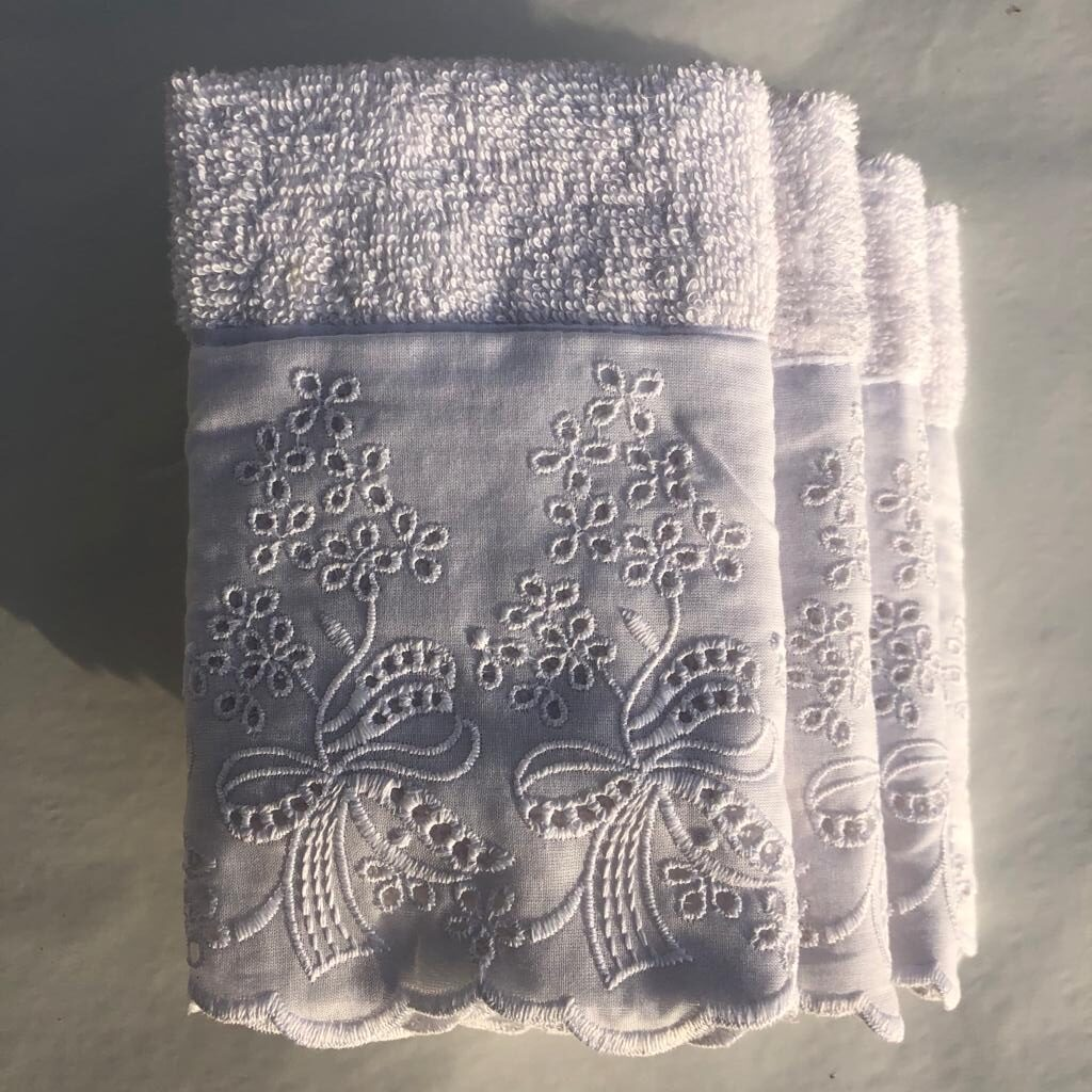 Set 4 lavette – Bianco