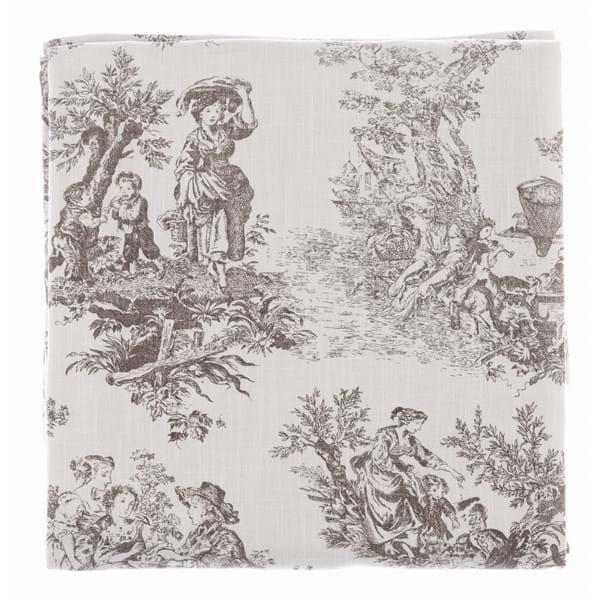 Tovaglia rettangolare in cotone – Bianca con decori