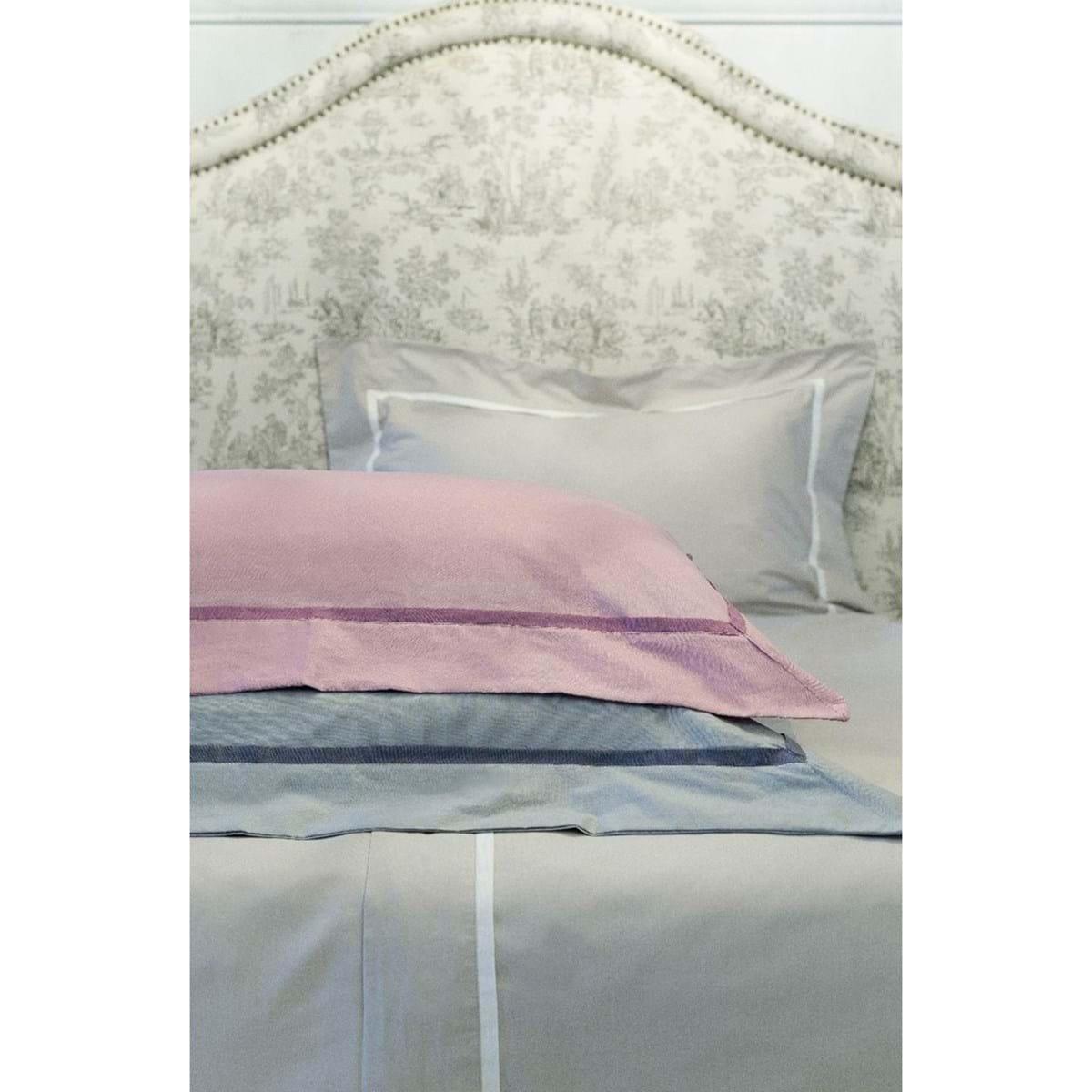 Completo letto 2 piazze – Bianco e rosa