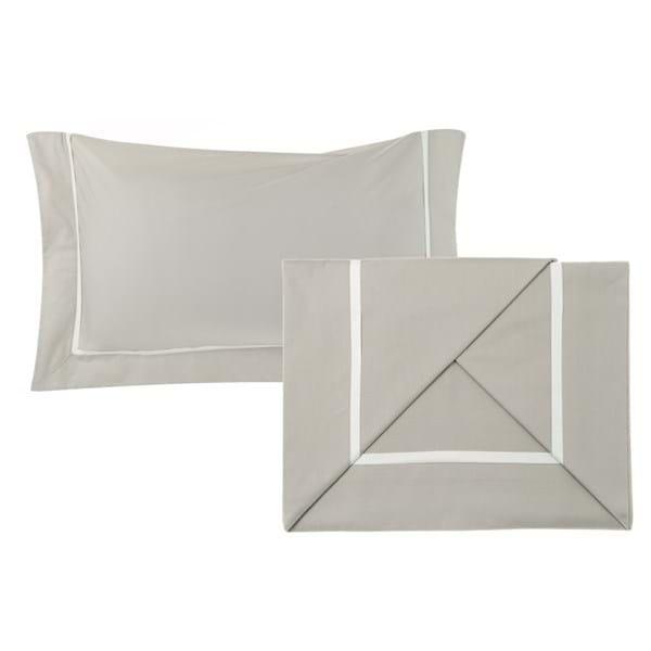 Completo letto 2 piazze – Bianco e beige