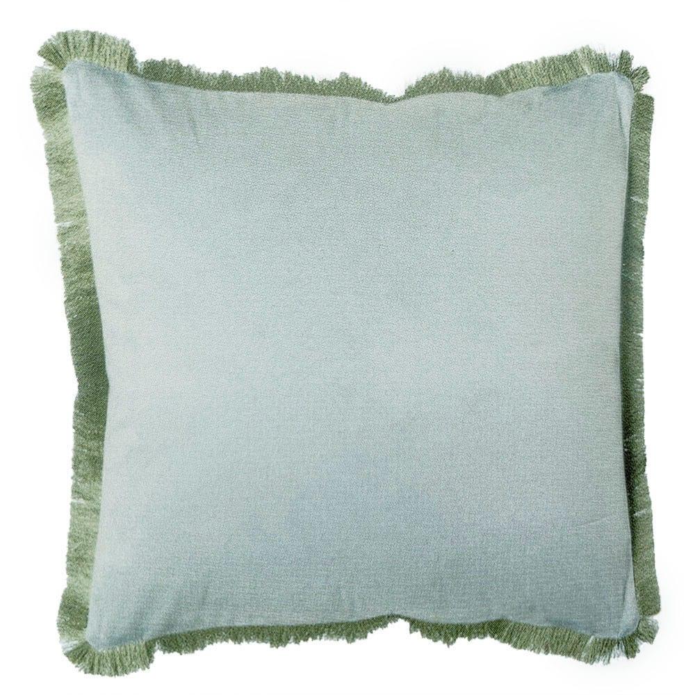 Cuscino con frangia delave – Verde