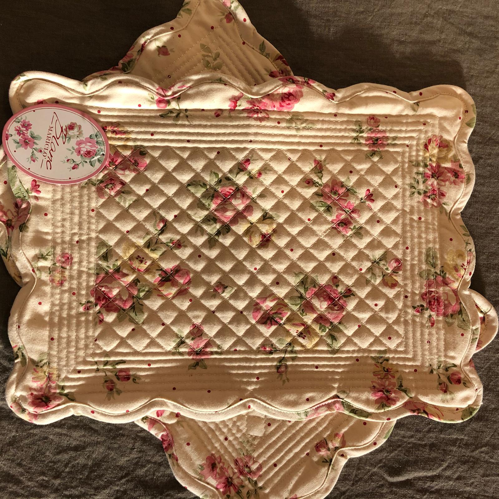 Tovaglietta americana con rose in cotone