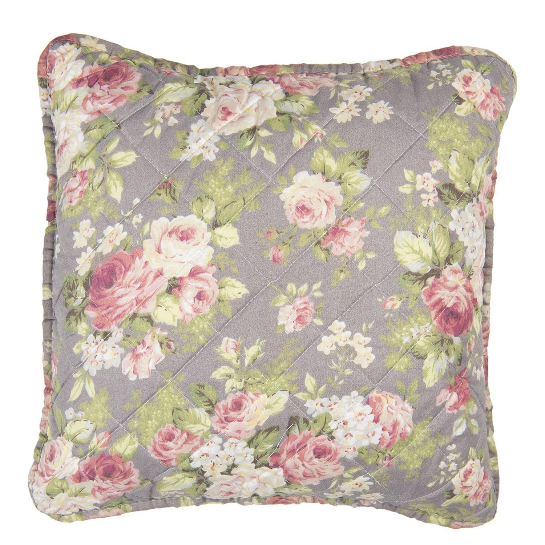 Cuscino floreale grande – Grigio