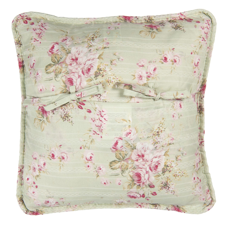 Cuscino floreale grande – Verde chiaro