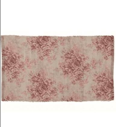 Tappeto rosa con fiori