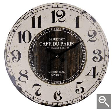 """Orologio da parete """"Cafe du Paris"""""""