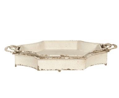 Vassoio in ferro avorio – Grande