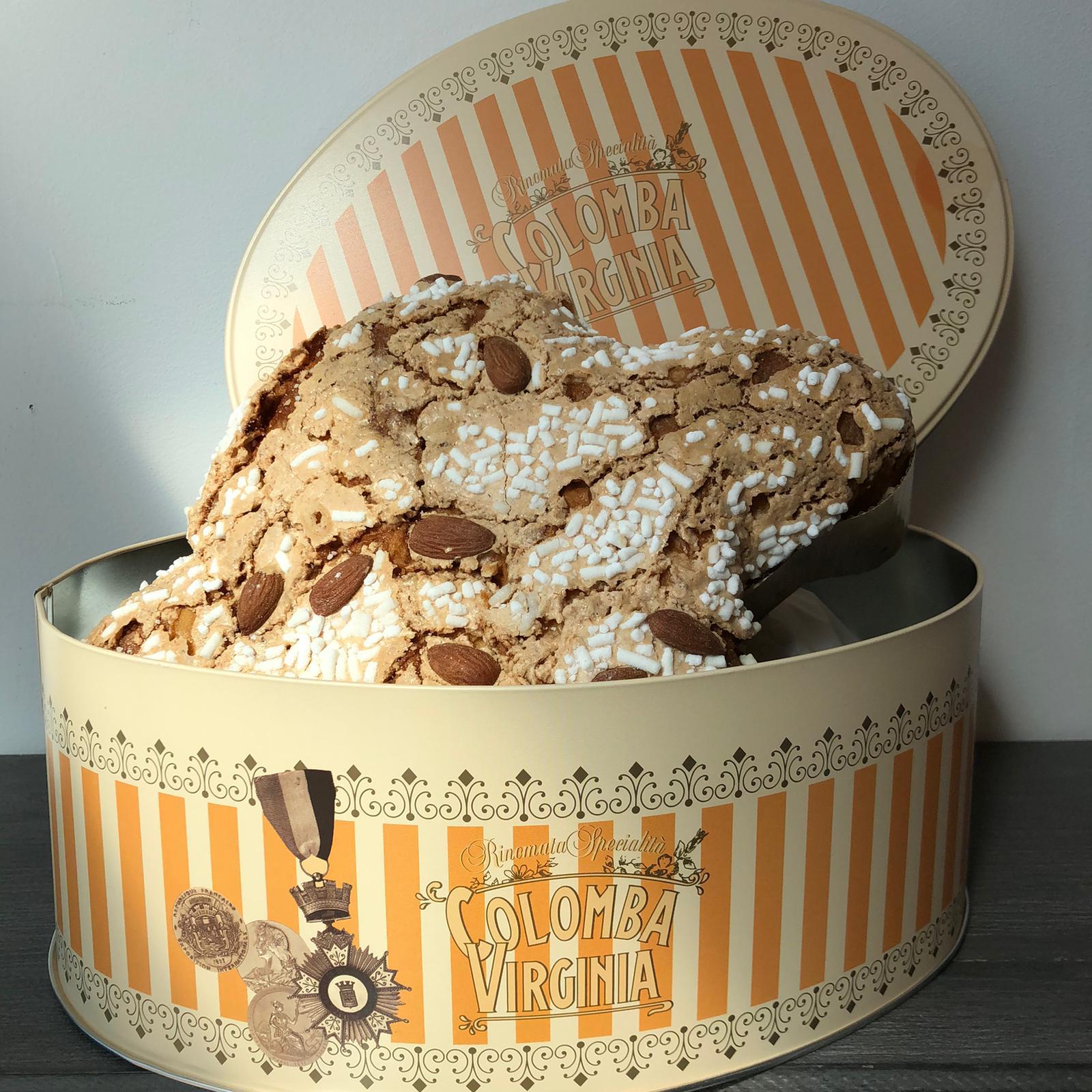 Scatola di latta con Colomba – 750gr Arancione