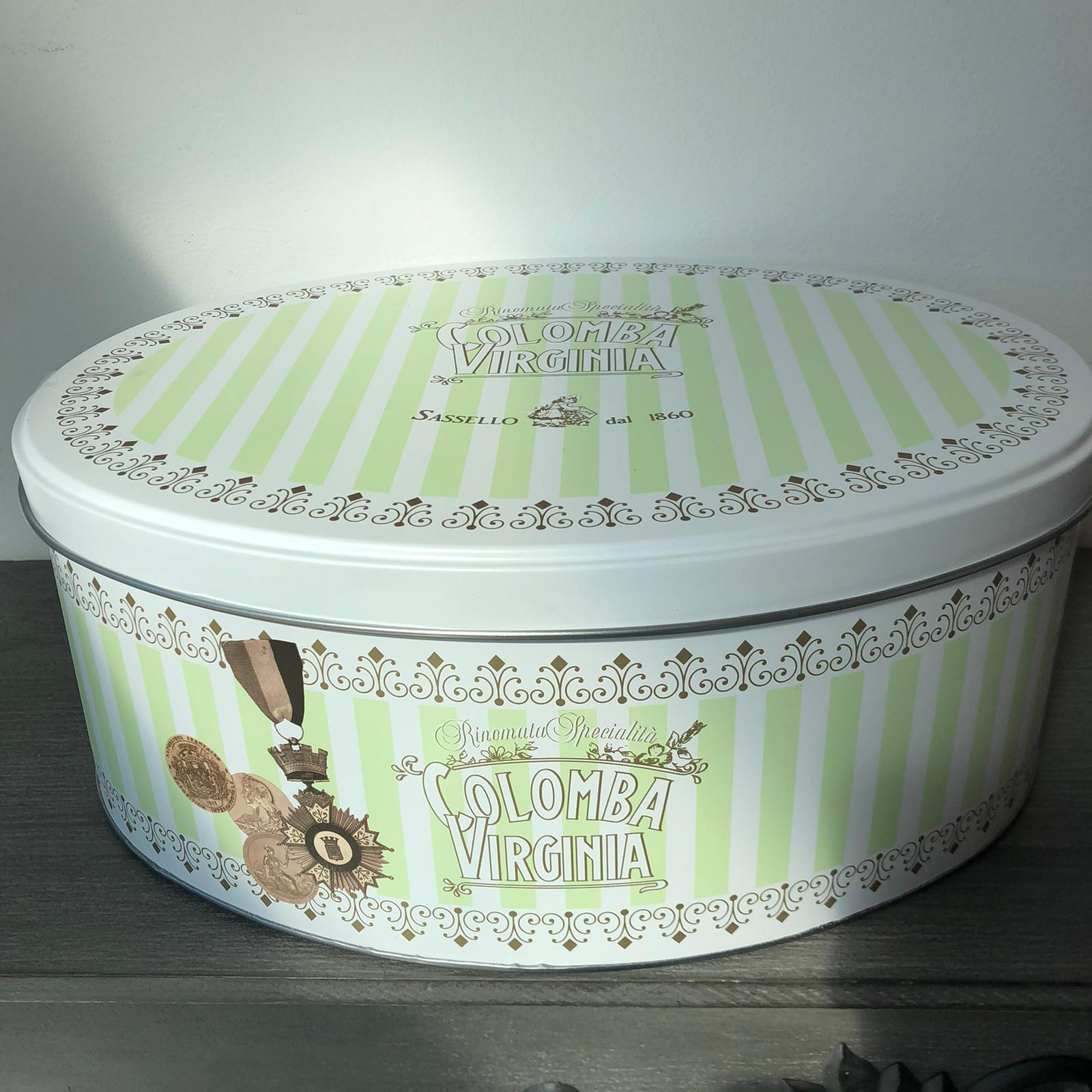 Scatola di latta con Colomba – 750gr Verde