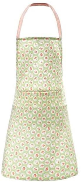 Grembiule in cotone – Verde con rose