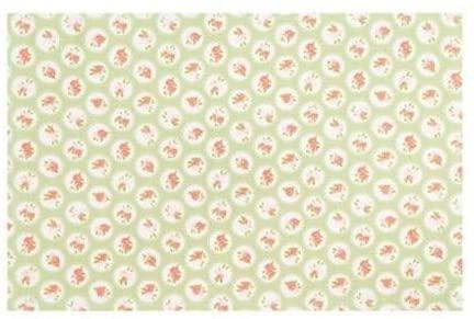 Canovaccio in cotone – Verde con rose