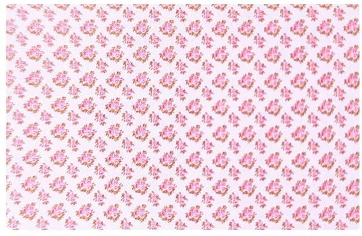 Canovaccio in cotone – Rosa con rose
